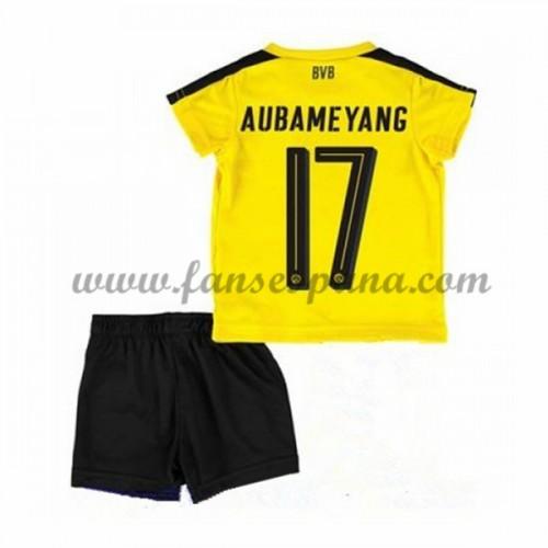 94cf1e9f0 Camisetas Futbol Niños BVB Borussia Dortmund Aubameyang 17 Primera  Equipación 2016-17