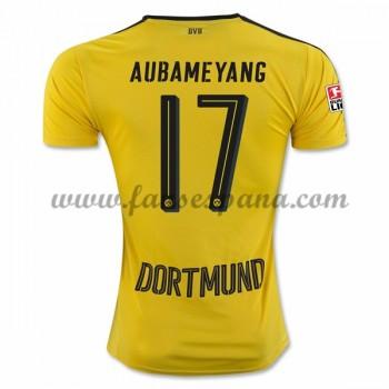 Camisetas De Futbol BVB Borussia Dortmund Aubameyang 17 Primera Equipación 2016-17