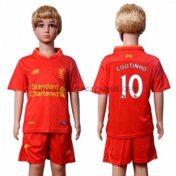 Camisetas Futbol Niños Liverpool Coutinho 10 Primera Equipación 2016-17