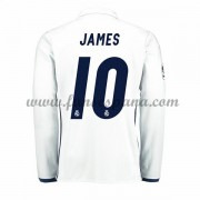 Camisetas De Futbol Real Madrid James 10 Primera Equipación Manga Larga 2016-17..