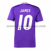 Camisetas De Futbol Real Madrid James 10 Segunda Equipación 2016-17..