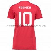 Camiseta Manchester United Mujer Rooney 10 Primera Equipación 2016-17..