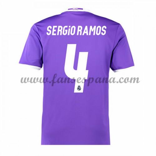 d14bfe76d3f61 Camisetas De Futbol Real Madrid Sergio Ramos 4 Segunda Equipación 2016-17