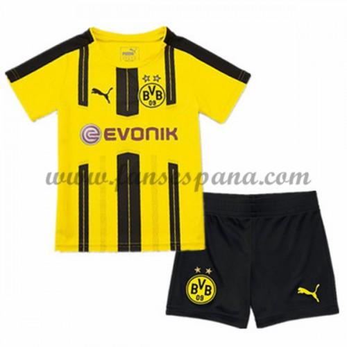 c5a792314 Camisetas Futbol Niños BVB Borussia Dortmund Primera Equipación 2016-17