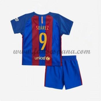 Camisetas Futbol Niños Barcelona Suarez 9 Primera Equipación 2016-17 e529e4c83080e