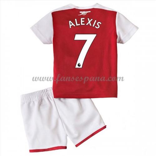 30b6ee8ac Camisetas Futbol Niños Arsenal Alexis Sanchez 7 Primera Equipación 2017-18.