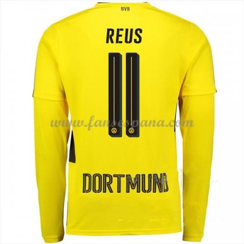 f47ee2b8fa78d Camisetas De Futbol BVB Borussia Dortmund Marco Reus 11 Primera Equipación Manga  Larga 2017-18
