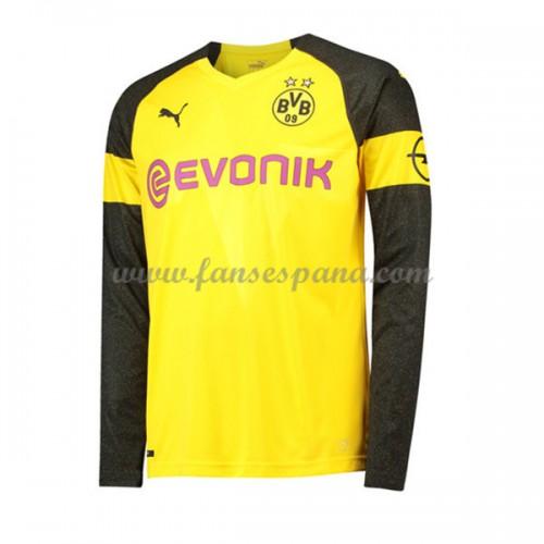 Camisetas De Futbol BVB Borussia Dortmund Primera Equipación Manga Larga  2018-19 94f93d4489333