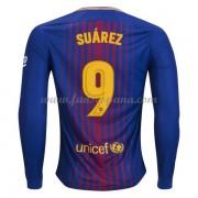 Camisetas De Futbol Barcelona Luis Suarez 9 Primera Equipación Manga Larga  2017-18. efd21fbcba2f2