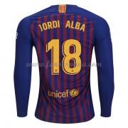 Camisetas De Futbol Barcelona Jordi Alba 18 Primera Equipación Manga Larga  2018-19. 74faa2b1cf5