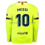 Camisetas De Futbol Barcelona Lionel Messi 10 Segunda Equipación Manga  Larga 2018-19 07a318667808e