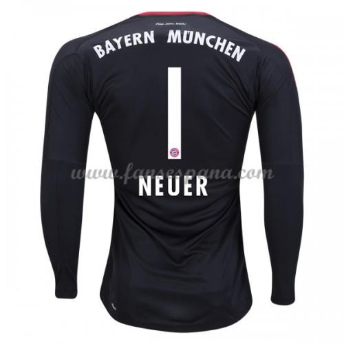 f910293238 Camisetas De Futbol Bayern Munich Manuel Neuer 1 Portero Primera Equipación  Manga Larga 2017-18