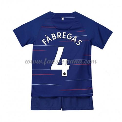 aba40116 Camisetas De Futbol Niños Chelsea Francesc Fabregas 4 Primera Equipación  2018-19
