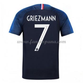 Camisetas De Futbol Selección Francia Copa Mundial 2018 Antoine Griezmann 7 Primera Equipación