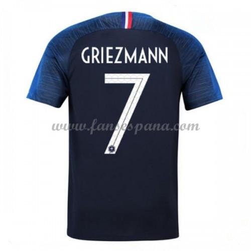 Camisetas De Futbol Selección Francia Copa Mundial 2018 Antoine Griezmann 7 Primera  Equipación c40421ca1c8e6