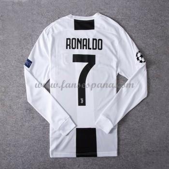 Camisetas De Futbol Juventus Cristiano Ronaldo 7 Primera Equipación Manga Larga 2018-19