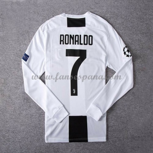 Camisetas De Futbol Juventus Cristiano Ronaldo 7 Primera Equipación Manga  Larga 2018-19 91c11755f256b