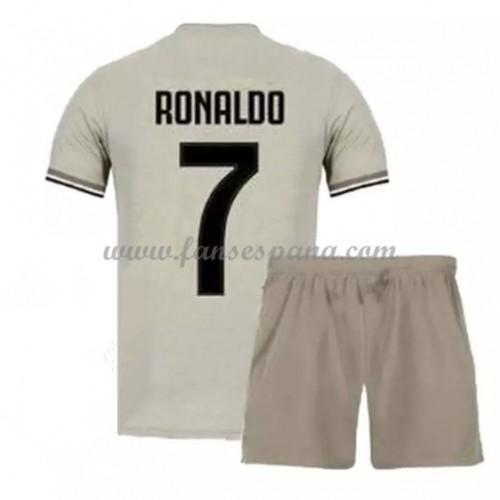 809664362782d Camisetas De Futbol Niños Juventus Cristiano Ronaldo 7 Segunda Equipación  2018-19