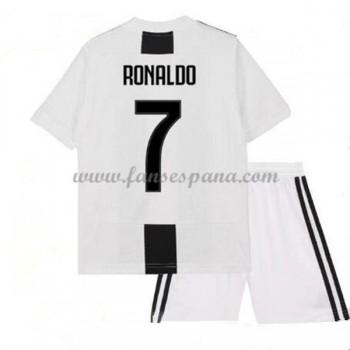 Camisetas De Futbol Niños Juventus Cristiano Ronaldo 7 Primera Equipación 2018-19