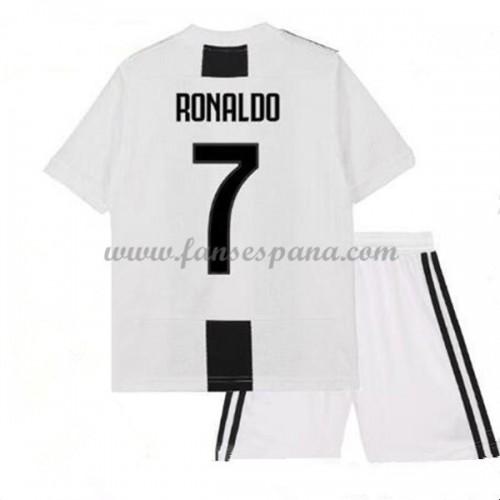 d9b3c3044c Camisetas De Futbol Niños Juventus Cristiano Ronaldo 7 Primera Equipación  2018-19