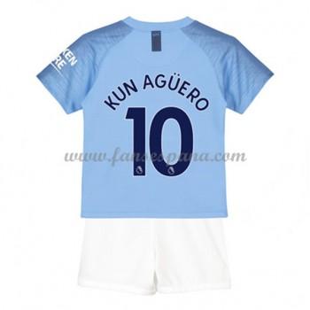 Camisetas De Futbol Niños Manchester City Kun Aguero 10 Primera Equipación 2018-19