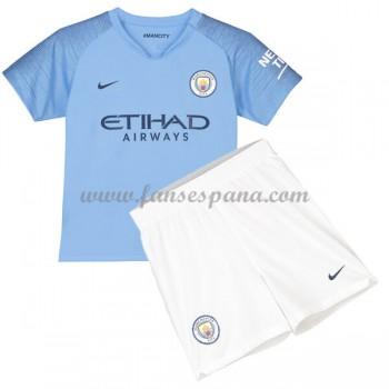 Camisetas De Futbol Niños Manchester City Primera Equipación 2018-19
