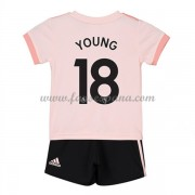 Camisetas De Futbol Niños Manchester United Ashley Young 18 Segunda Equipación 2018-19..