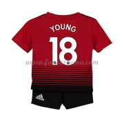 Camisetas De Futbol Niños Manchester United Ashley Young 18 Primera Equipación 2018-19..