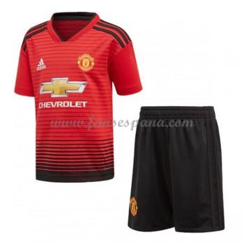 Camisetas De Futbol Niños Manchester United Primera Equipación 2018-19