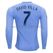 Camisetas De Futbol New York City David Villa 7 Primera Equipación Manga Larga 2017-18..