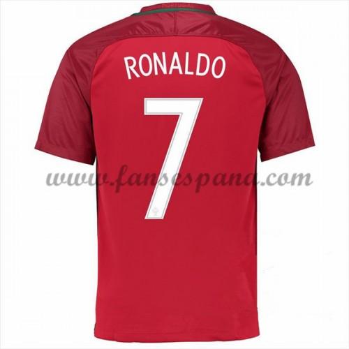 8405130612b20 Camisetas De Futbol Barata Portugal 2016 Cristiano Ronaldo 7 Primera  Equipación