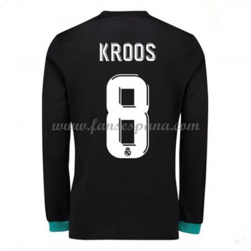 a1ff86b465148 Camisetas De Futbol Real Madrid Toni Kroos 8 Segunda Equipación Manga Larga  2017-18