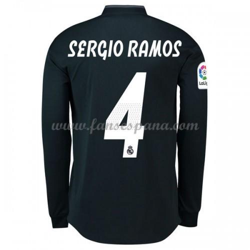 Camisetas De Futbol Real Madrid Sergio Ramos 4 Segunda Equipación Manga  Larga 2018-19 158cb2170471d