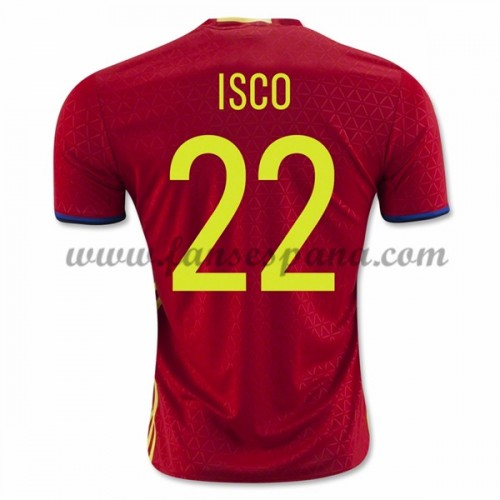 0d55363b5f194 Camisetas De Futbol Barata España 2016 Isco 22 Primera Equipación