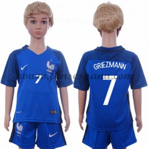 d4f7de1fc Camisetas Futbol Niños Francia Antoine Griezmann 7 Primera Equipación 2016- 17