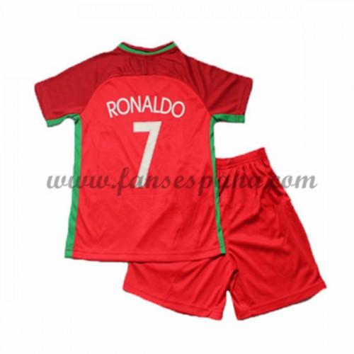 586845f20edee Camisetas Futbol Niños Portugal Cristiano Ronaldo 7 Primera Equipación  2016-17