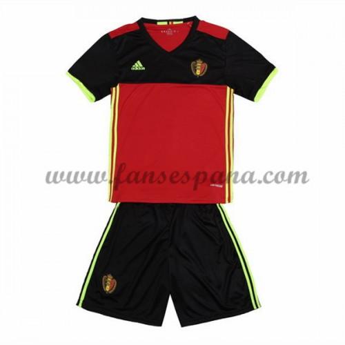 3a729fd2e Camisetas Futbol Niños Bélgica Primera Equipación 2016-17