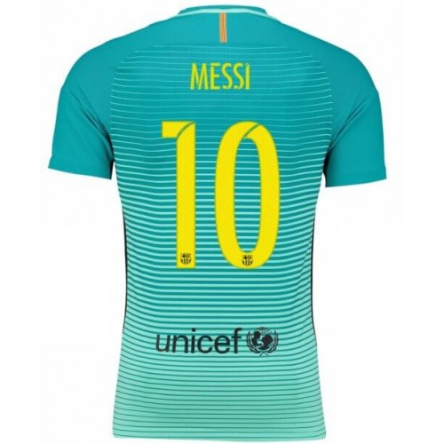 Camisetas De Futbol Barcelona Messi 10 Tercera equipación 2016-17 4fb5293703f