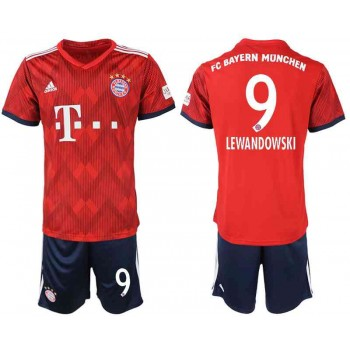 Camisetas De Futbol Niños Bayern Munich Robert Lewandowski 9 Primera Equipación 2018-19